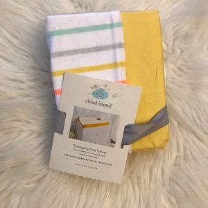 cloud island Accessories - Cloud Island Striped Changing Pad Cover